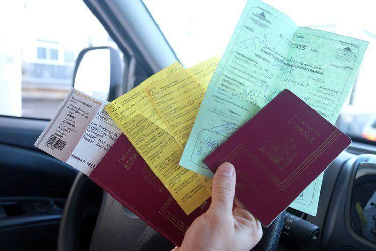 Toda la documentacion necesario para cruzar la frontera a Marruecos en coche