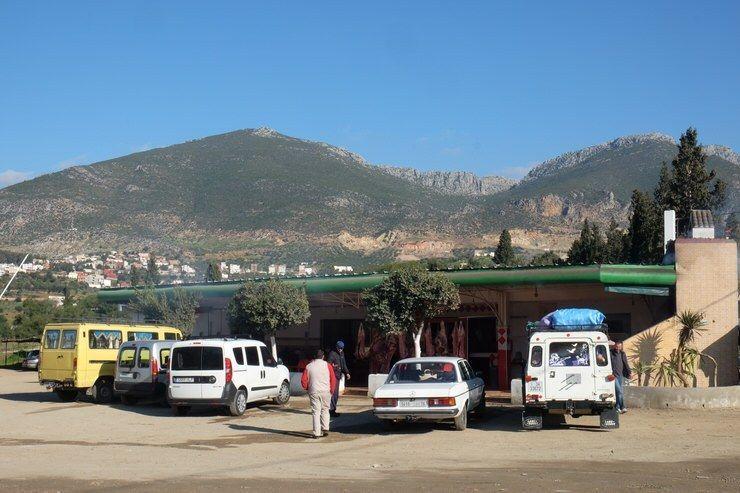 Con la furgo en Marruecos