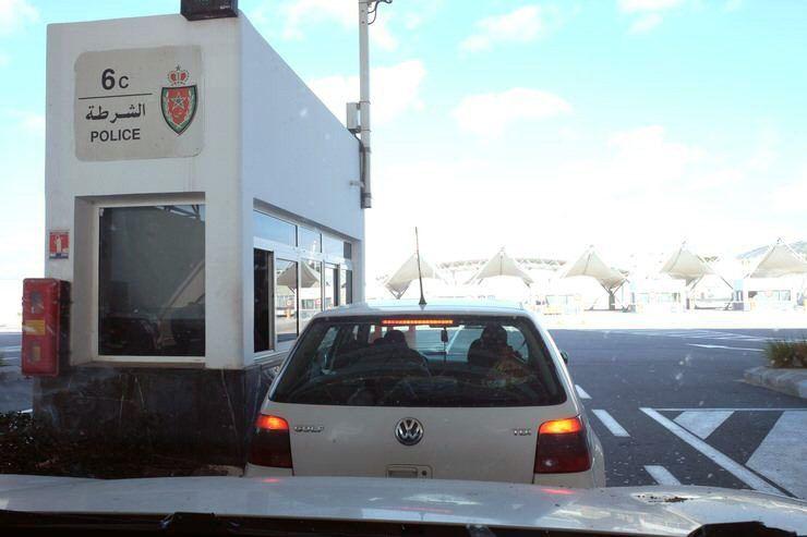 Saliendo del puerto de Tanger