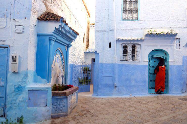 calles azules de Chaouen