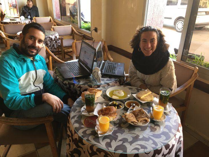 desayuno en Alcazarquivir
