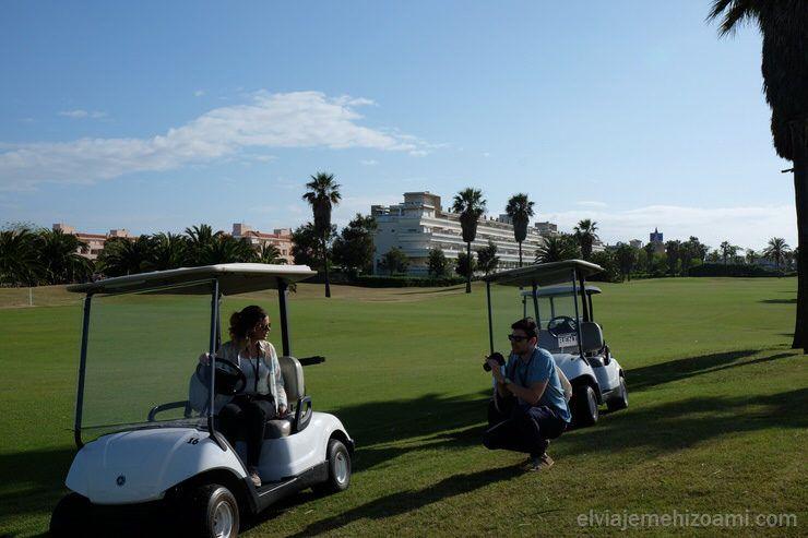 Campo de golf. El viaje me hizo a mi