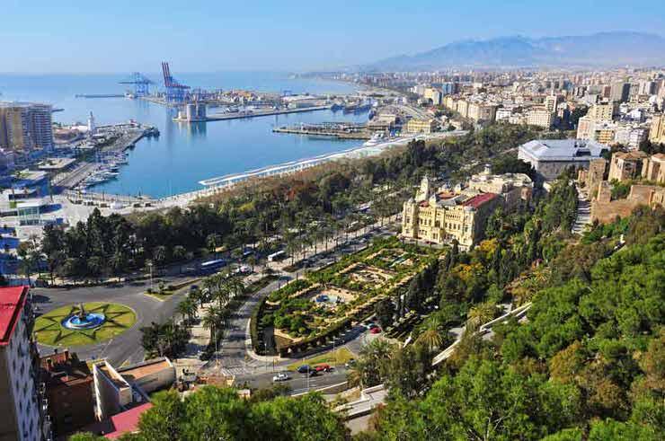 Vista del Parque de la Alameda de Malaga