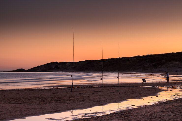 Puesta de sol en playa de Punta Paloma