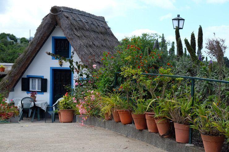 Casas tradicionales en Santana.