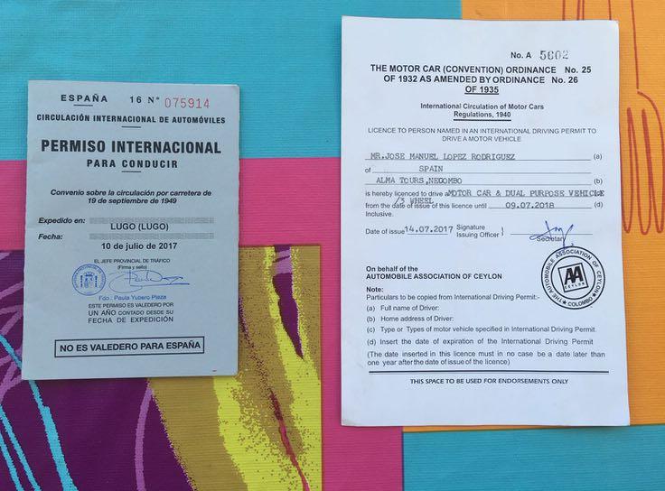 Carnet para conducir tuk tuks en Sri Lanka