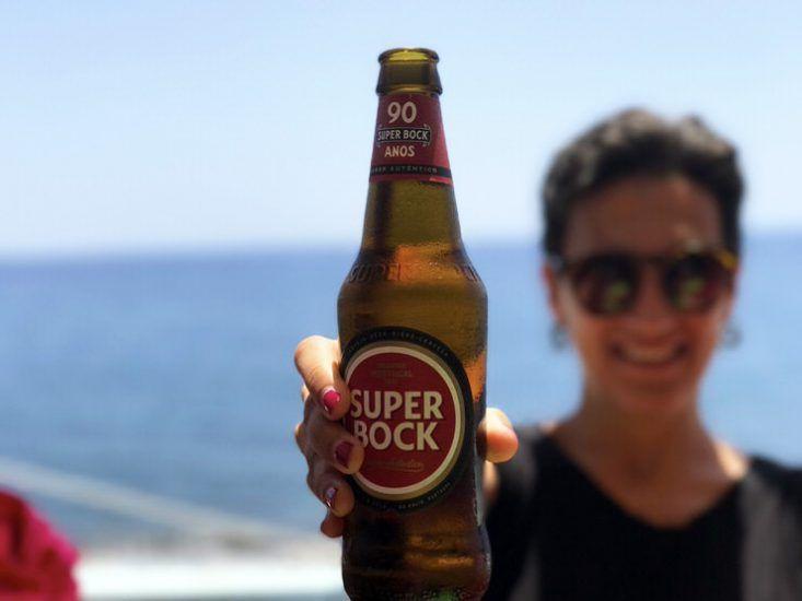 Cerveza Super Bock en Portugal