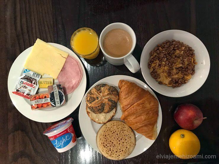 desayuno del Safestay Londres Elephant & Castle