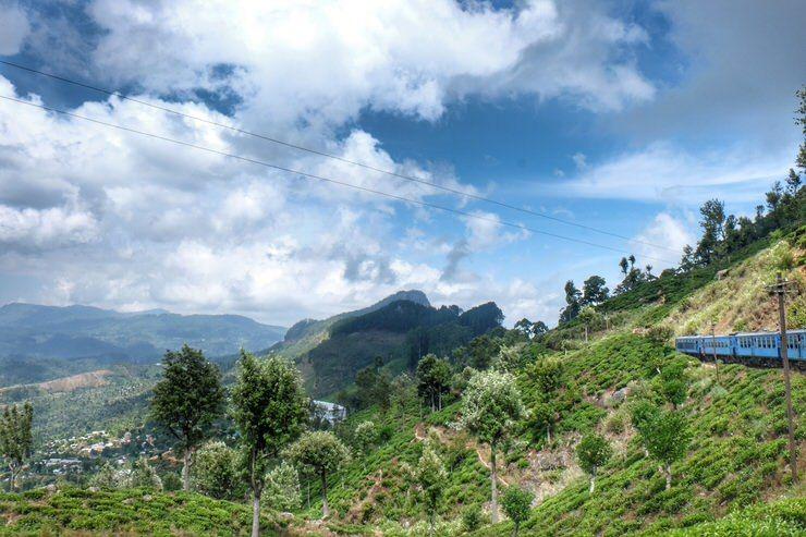 viajar en tren por Sri Lanka
