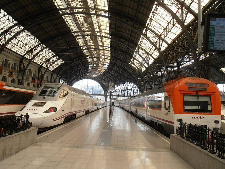 tren desde Barcelona al aeropuerto