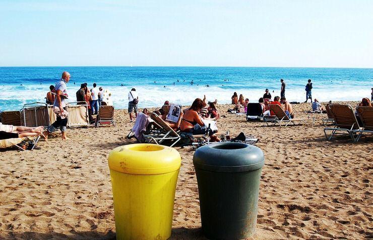 La playa de la Barceloneta