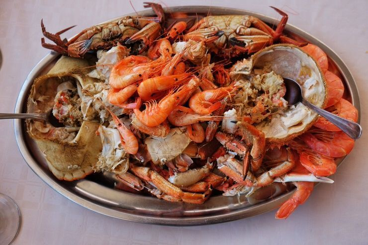 comer marisco en Santiago