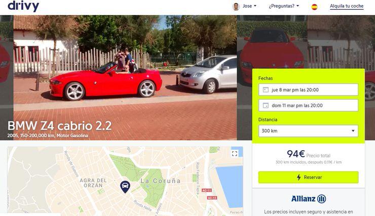 alquiler de coches entre particulares