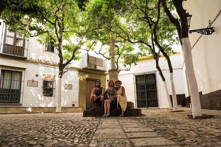 Plaza por el centro de Sevilla
