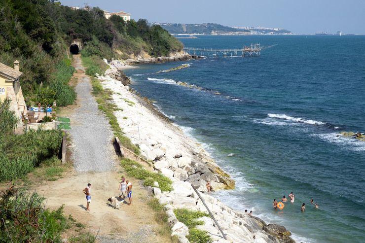 Playa pública en Abruzzo