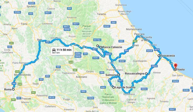 Nuestra ruta por Abruzzo