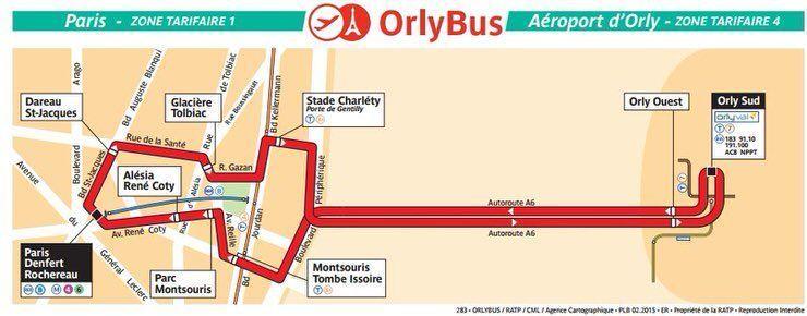 Ir a París desde Orly en autobús