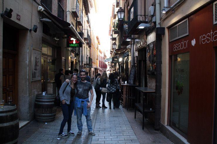La calle Laurel de Logroño
