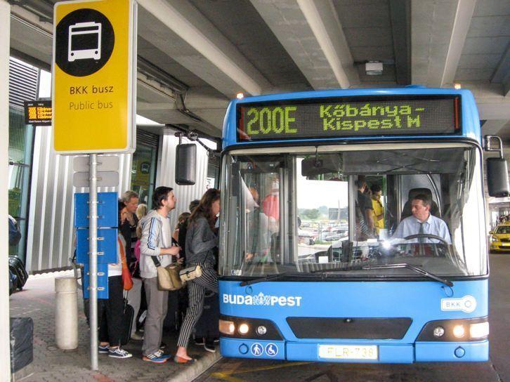Autobús 200E desde Budapest al Aeropuerto