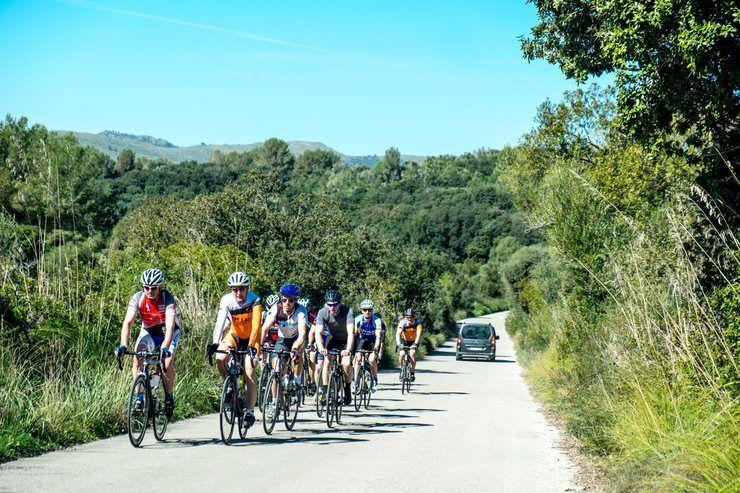 Ciclistas por Mallorca