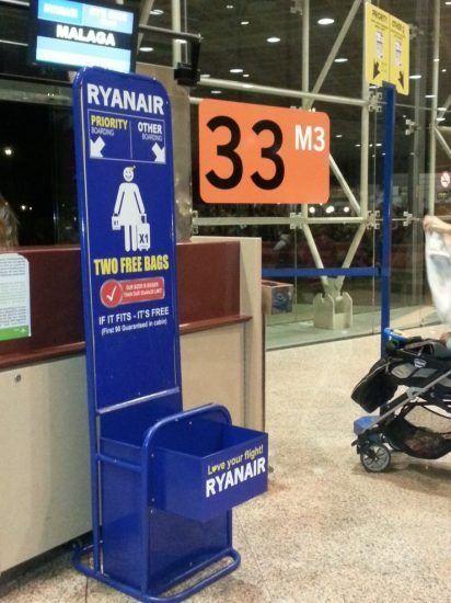 Hueco maleta Ryanair