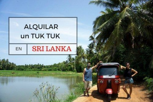 cómo alquilar un Tuk Tuk Sri Lanka