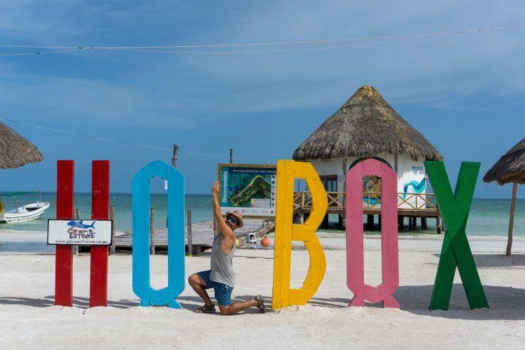 Letrero de Holbox