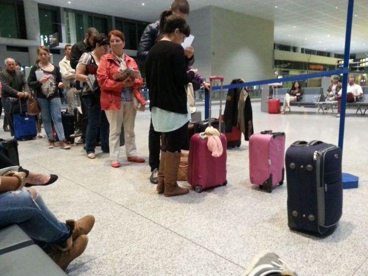 acceder a un avión de Ryanair