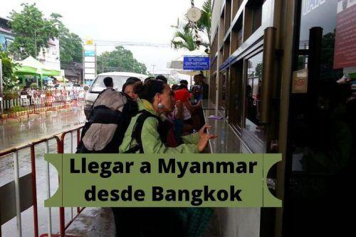 Entrar a Myanmar por tierra desde Tailandia