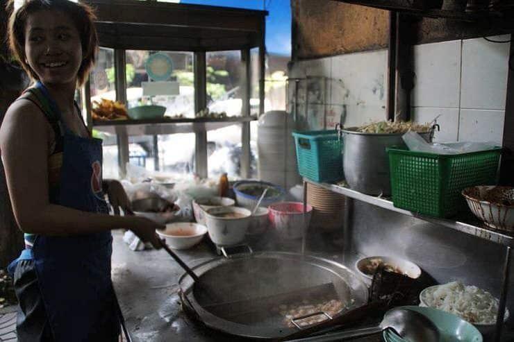 precios de un restaurante en Tailandia