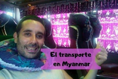 El transporte para los extranjeros en Myanmar