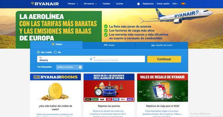 compra de billetes Ryanair