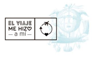 el viaje me hizo a mi logotipo