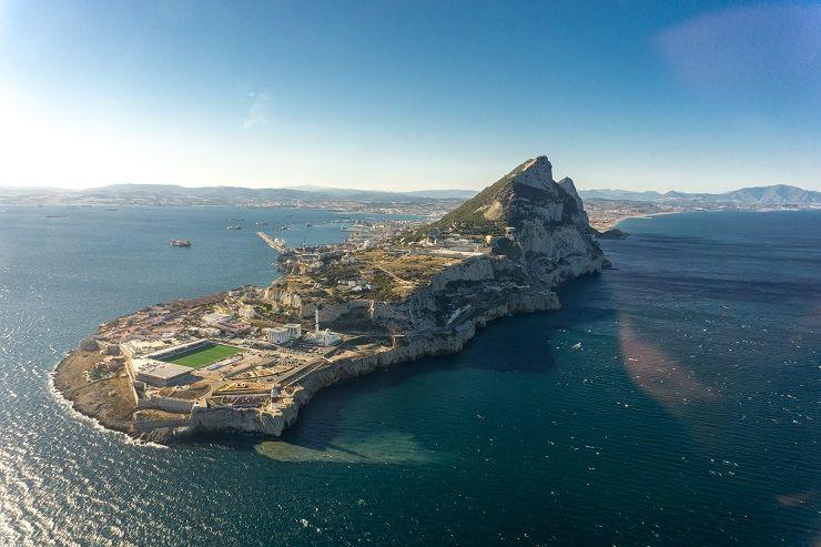 Gibraltar desde el Helicóptero