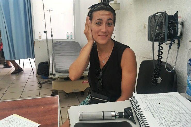 Gloria en el hospital de Palenque