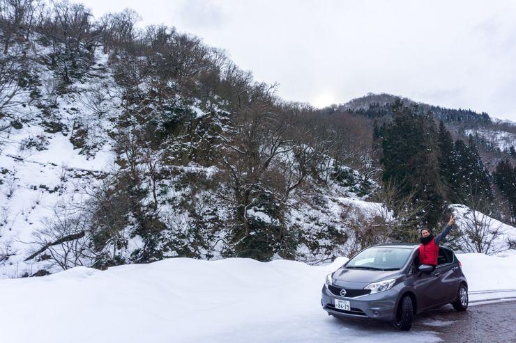 conducir por los Alpes Japoneses