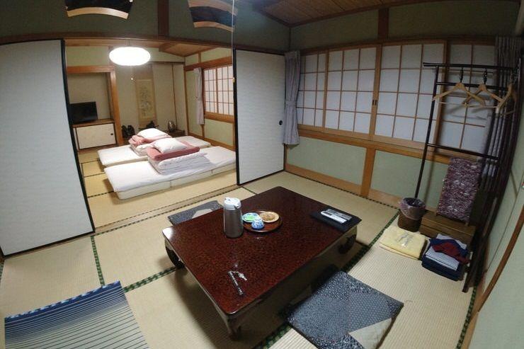 dormir en un ryokan en la ruta Nakasendo