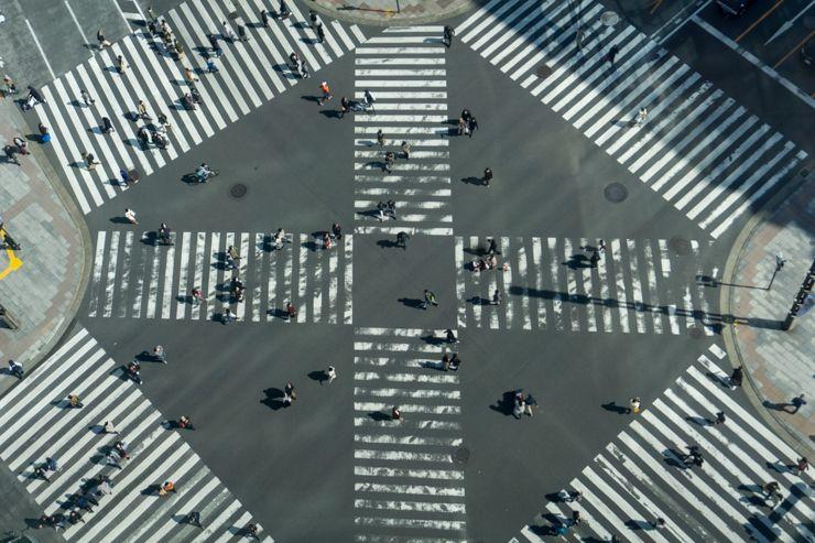 cruce del Tokyu Plaza