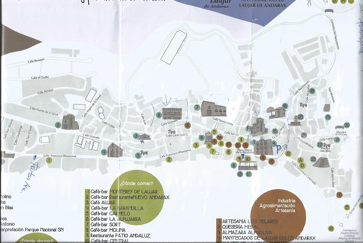 Mapa de Laujar de Andarax