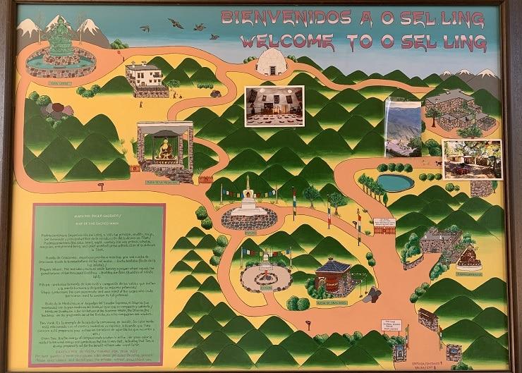 mapa de O Sel Ling