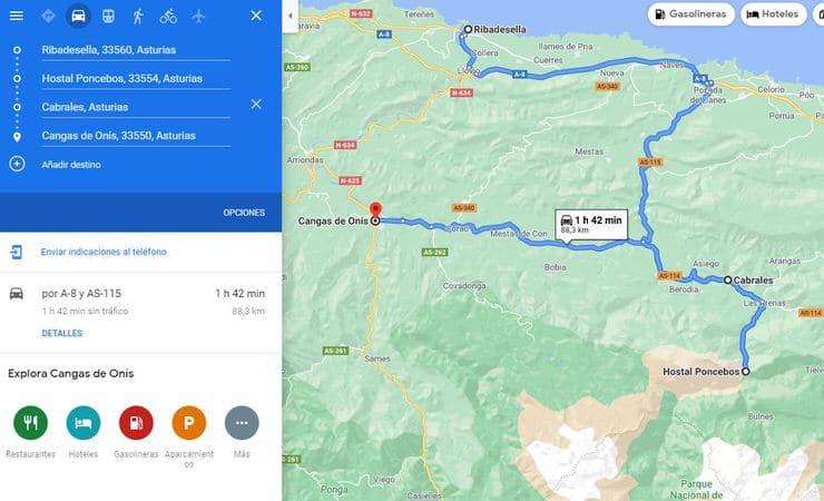 ruta por Asturias de 7 días