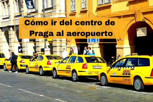 ir del aeropuerto al centro de Praga