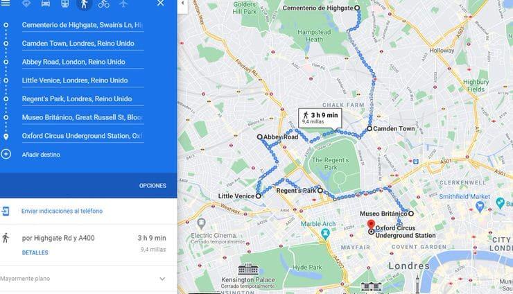 Mapa de Londres en 3 días