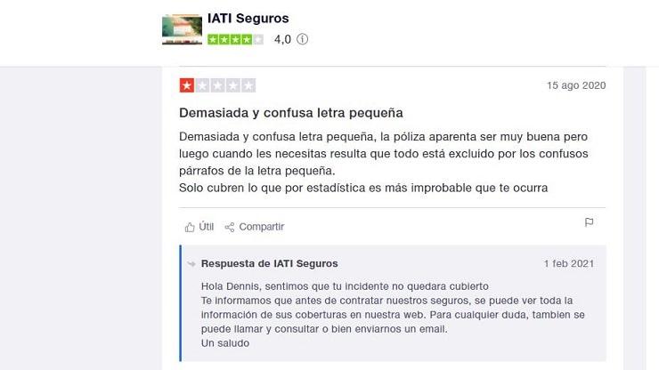 opiniones de IATI en internet
