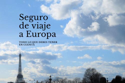 Seguro de viaje por Europa