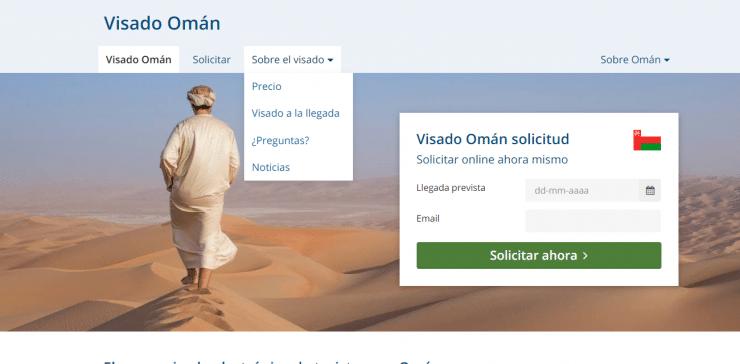 Visado para Omán con empresa externa