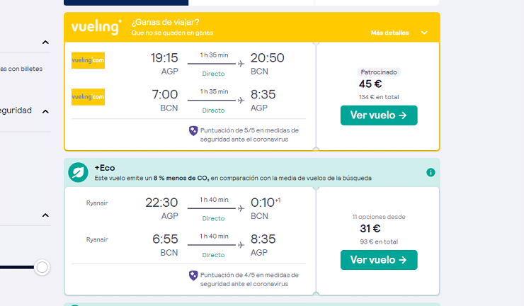 mochila de mano en Ryanair